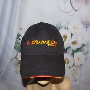 Dunlop Tires Hat Embroidered Baseball Cap Hat Vtg